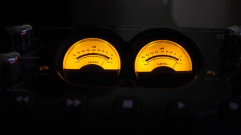 Analog Audio Meters Video Footage