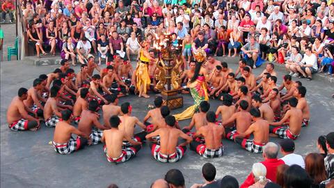 Balinese Kecak dance also known as Ramayana Monkey Chant, Bali Footage