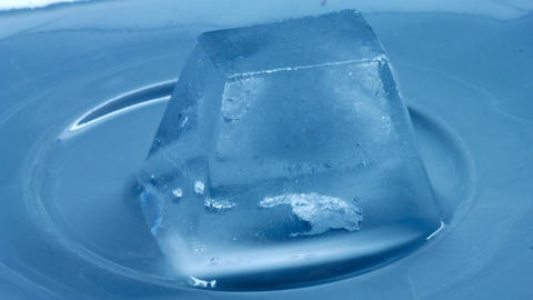 timelapse of melting of ice cube Footage
