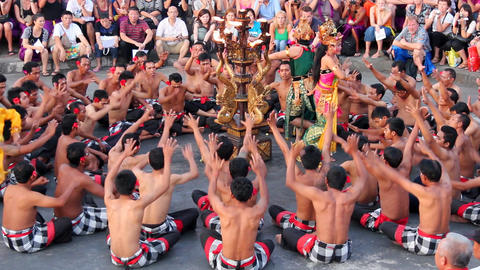 Balinese Kecak dance also known as Ramayana Monkey Chant, Bali Footage