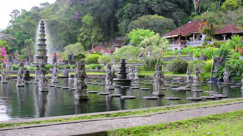 Tirta Gangga water palace on Bali, Indonesia 圖片