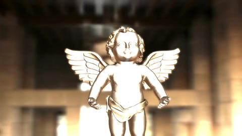 Digital Animation of an Angel CG動画素材
