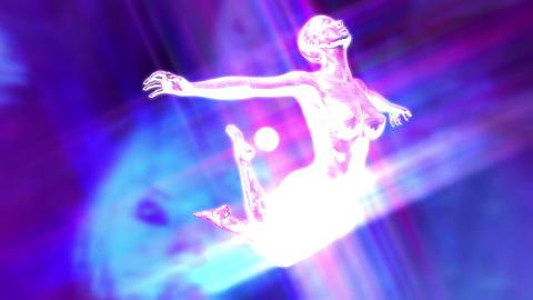 Digital Animation of a surreal floating Female Animation