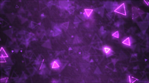 Drawing Triangle Shapes Motion Background Animation - Loop Purple Animation