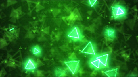 Drawing Triangle Shapes Motion Background Animation - Loop Green Animation