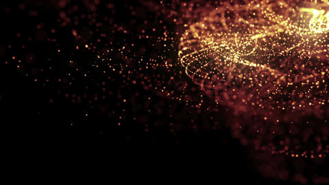 Particles dust abstract light motion titles cinematic background loop 38 Animation