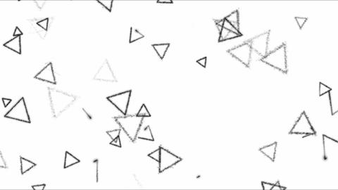 Drawing Triangle Shapes Background Animation - Loop Black and White Footage