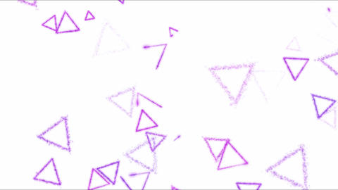 Drawing Triangle Shapes on White Background Animation - Loop Purple Animation