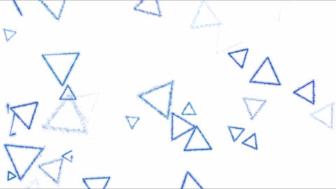 Drawing Triangle Shapes on White Background Animation - Loop Blue Animation