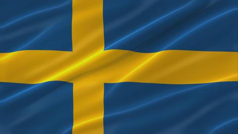 Flag of Sweden 4K Animation