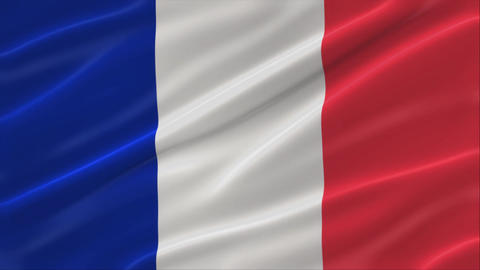 Flag of France 4K CG動画素材