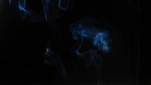 Smoke isolated black background ビデオ