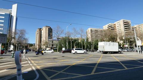 Barcelona Diagonal Avenue Boulevard Camera Car Footage