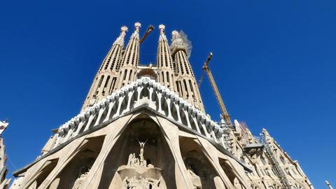 La Sagrada Familia Antoni Gaudi Barcelona Camera Car Footage