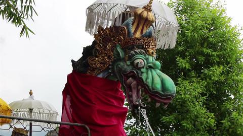Bali dragon statue Footage