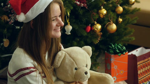 Joy of receiving Christmas gifts Footage