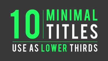 10 Minimal Titles and Lower Thirds After Effects Projekt