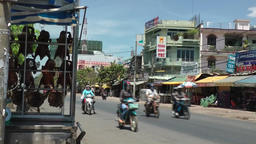 Vietnam Phú Mỹ district villages 026 colorful street view Footage