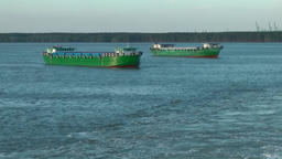 Vietnam Phú Mỹ district 033 two transport ships in the bay Footage