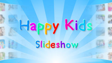 Happy Kids Slideshow - Apple Motion and Final Cut Pro X Template Apple Motionテンプレート