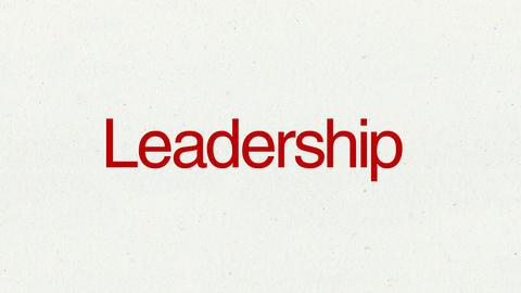 Text animation 'Leadership' for topic introduction in Powerpoint presentations Animation
