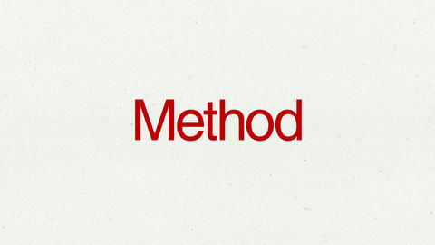 Text animation 'Method' for topic introduction in Powerpoint presentations Animation