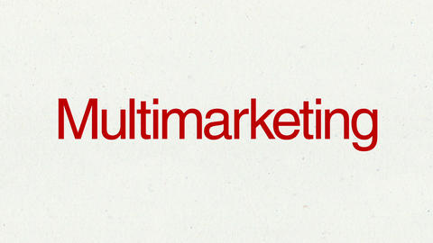 Text animation 'Multimarketing' for topic introduction in Powerpoint presentatio Animation