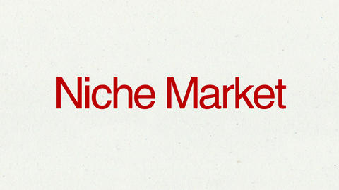 Text animation 'Niche Market' for topic introduction in Powerpoint presentations Animation