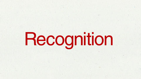 Text animation 'Recognition' for topic introduction in Powerpoint presentations Animation