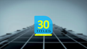 30 Titles collection After Effects Template