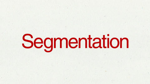 Text animation 'Segmentation' for topic introduction in Powerpoint presentations Animation