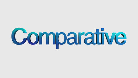 3D Text animation 'Comparative' for topic introduction in Powerpoint presentatio Animation