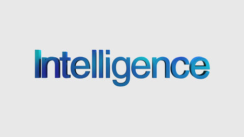 3D Text animation 'intelligence' for topic introduction in Powerpoint presentati Animation