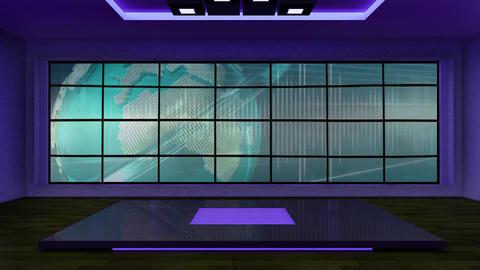 News TV Studio Set 263- Virtual Background Loop ライブ動画