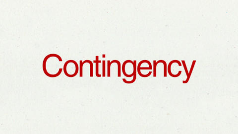 Text animation 'Contingency' for topic introduction in Powerpoint presentations Animation
