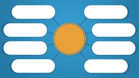 Circle tree diagram for presentation.typo topic box. 8 Animation