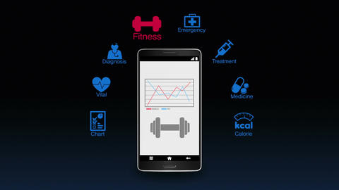 Health care application function for smart phone,mobile 1 Animation