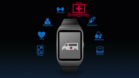 Health care application function for smart watch(included Alpha) Animation