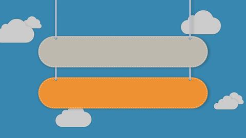 Presentation head bar.Falling typo box 2 Animation