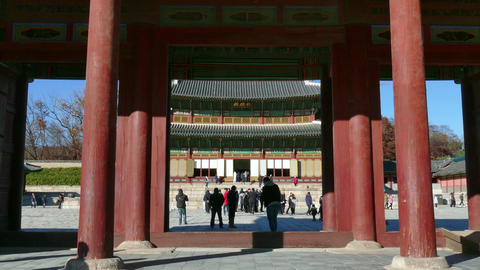 Changdeokgung Palace Korean Monument Unesco World Heritage Site In Seoul GIF 動畫