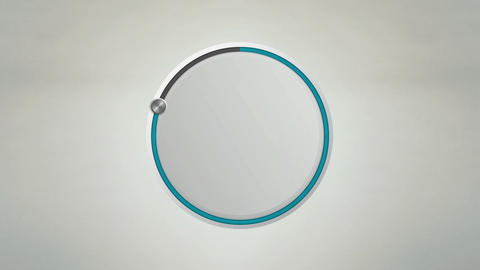 Indicate 80 percents circle dial animation (No text version) Animation