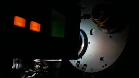 Film Projector Projecting 35mm Movie Live Action