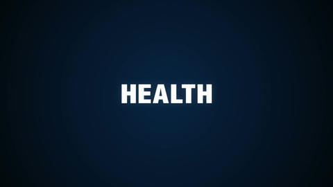 Care, Lifestyle, Prevention, Physical, Mental, Text animation ' HEALTH' Animation