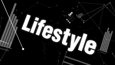 Care, Lifestyle, Prevention, Physical, Mental, Text... Stock Video Footage
