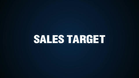 Markets, Needs, Profit, Analysis, Value, Text animation ' SALES TARGET' Animation