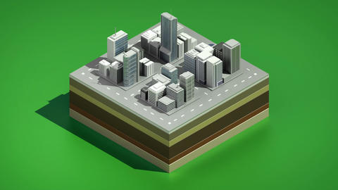 3D buildings makes city, Three dimention illustration view.vision 1 Animation