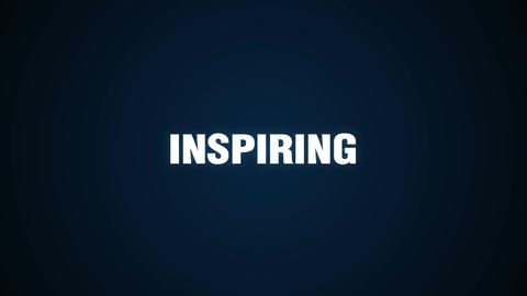 Opportunity, Goal, Succeed, Leadership, Creative,Text animation 'INSPIRING' Animation
