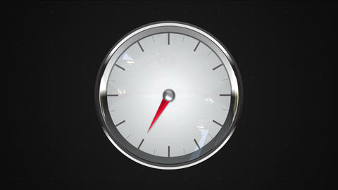 Indicated 7 o'clock point. gauge or watch animation Animation