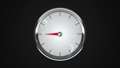 Indicated 9 o'clock point. gauge or watch animation Animation
