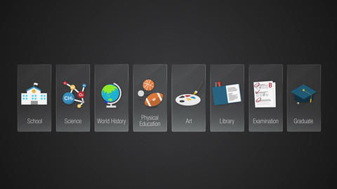 Digital display application. Education icon Animation